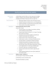 Download Pilates Instructor Resume Haadyaooverbayresort Com