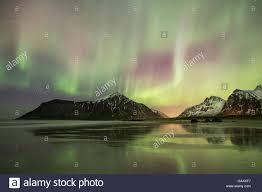 Northern Lights Norway 2015 Northern Lights Aurora Borealis Over Skagsanden Beach