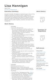 Financial Resume Examples New Controller Resume Samples VisualCV Resume Samples Database