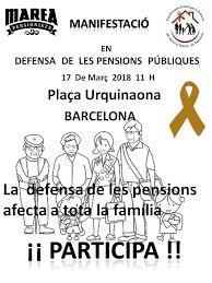 Resultat d'imatges de manifestacio barcelona 17 març de 2018