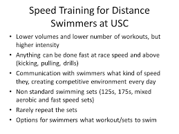 sd for distance swimmers at usc