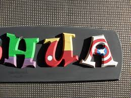 diy wood craft letters for joshua in superhero theme diy wood craft letters for joshua in superhero theme