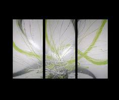 abstract art canvas painting lime green white silver wall art paintings on lime green wall artwork with 3 abstract canvas painting white lime green brown modern wall art