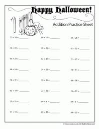 Halloween Addition and Subtraction Worksheets - Woo! Jr. Kids ...Double Digit Halloween Addition Worksheet - Numbers up to 99