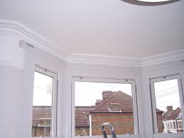 bay window corded steel curtain track west hampstead