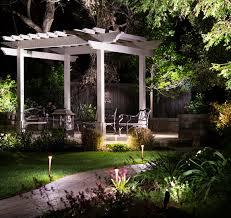 Garden lighting design Bollard Gazebo Scene That Was Transformed With Outdoor Lighting Design American National Sprinkler Unparalleled Outdoor Lighting Design Free Quote Today