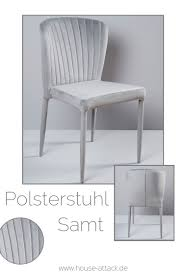 Lc Home Esszimmerstuhl Polsterstuhl Design Stuhl Samt Grau