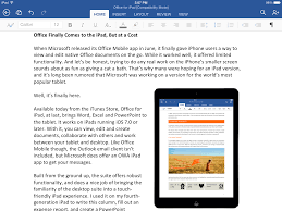 microsoft s next surprise is office for ipad iphone and one