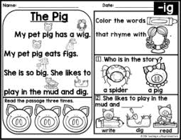 Context clues worksheet fact and opinion worksheet cause and effect. Free Kindergarten Phonics Reading Passages Phonics Kindergarten Phonics Reading Passages Phonics Based Reading Passages