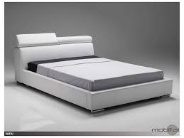 mobital vertu white leather king bed bedvertwhitking