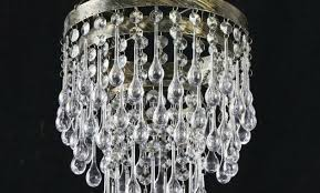 antique crystal chandelier table lamps brass made in spain replacement crystals light s french refurbished using home improvement
