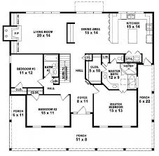 1 story house plans. #654173 - One Story 3 Bedroom, 2 Bath Country Style House Plan : 1 Plans