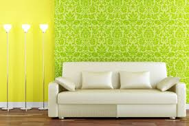 Wallpapered Living Rooms Living Room Pictures With Green And Yellow Wallpaper For Wall