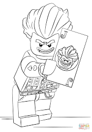 Small Picture Coloring Pages Lego Arkham Asylum Joker Coloring Page Free