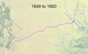 Travel The Trail Map Timeline 1846 1866 Santa Fe