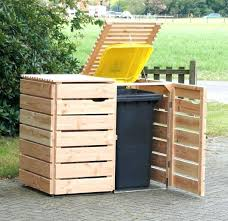 outdoor trash can. Wooden Garbage Can Full Size Of Holder Commercial Trash Cans Receptacles Outdoor