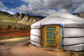 Traditional Mongolian yurt