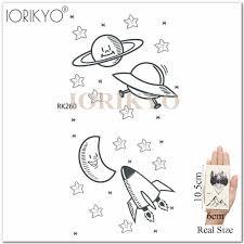 Iorikyo прекрасный мультфильм временные татуировки детские тонкие цветок рука