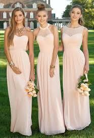 2016 light pink chiffon bridesmaid dress convertible style
