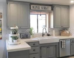 Modern farmhouse kitchen design Barnwood Floor Modern Farmhouse Light Gray Cabinets Homebnc 35 Best Farmhouse Kitchen Cabinet Ideas And Designs For 2019