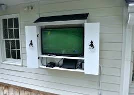 outdoor stands weatherproof surprising cabinet plans wall for free an on decorating ideas outside tv stand