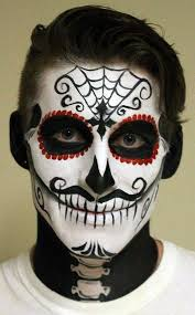 a gorgeous bold sugar skull makeup for man isn t that difficult to recreate