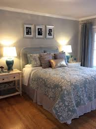 Serene blue, gold and silver master bedroom eclectic-bedroom