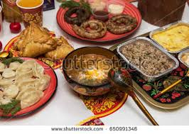 russian culture stock images royalty images vectors table traditional russian food decorated in russian style