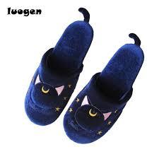 artemis shoes. women anime sailor moon slippers warm luna artemis cute cat tail plush shoes home house cosplay wholesale lot
