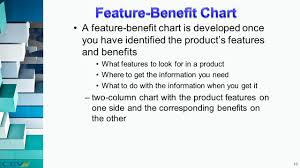 Product Feature Benefit Chart Answer In Your Notes Describe The Difference Between