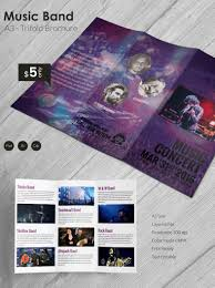 Trifold Template For Word Beautiful Music Band A3 Tri Fold Brochure Template Free Premium