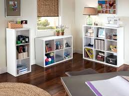 cube organizer white crafting area with storage space created with decorative storage 3 6 and closetmaid