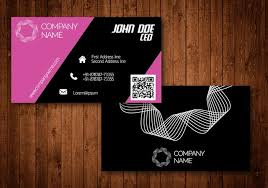 Pink Creative Business Card Download Free Vector Art Stock