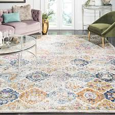 1 safavieh madison collection mad611b cream and multicolored bohemian chic distressed area rug 8