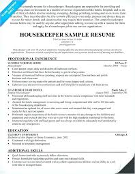 Resume For Hospital Job Hospital Housekeeping Resume Examples Extraordinary Resume For Hospital Job