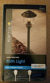 Portfolio Low Voltage Landscape Audio Path Lighting New Portfolio 11 Watt Specialty Bronze Low Voltage Path Light El0420pbr 688434