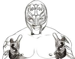 Wwe Rey Mysterio Coloring Pages