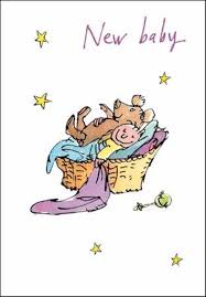 Quentin Blake New Baby Congratulations Greeting Card Cards