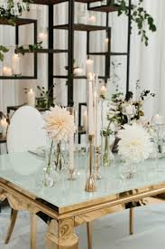 modern black white. Glass Wedding Table Setting Modern Black White A