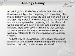 analogy essay sample analogy essay sample gxart analogy essay  analogy essay sample gxart orgmodule introduction matakuliah g writing iv tahun analogy essay an analogy