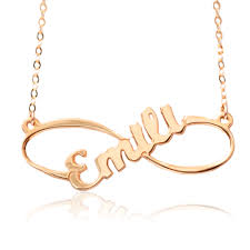 infinity necklace gold. 18k gold plated infinity necklace with large middle font - infinity necklaces