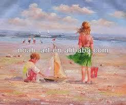 beautiful oil paintings beach scenes oil paintings beach scenes children on beach paintings beach children oil painting on alibaba com