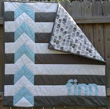 25+ unique Baby boy quilts ideas on Pinterest | Baby quilts for ... & Modern Personalized Chevron Quilt for Baby Boy by Shelsy on Etsy Adamdwight.com