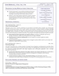 Free Purchasing Manager Resume Example