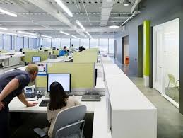 hk open office space. open plan office hk space