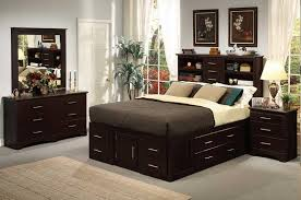 6pc Maxim Bed set with Drawers and Bookcase Headboard