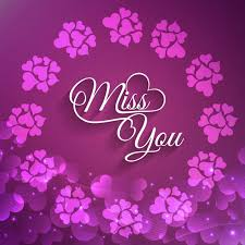 Free Download Greeting Card Beautiful Miss You Greeting Card Vector Free Download