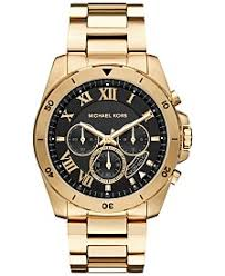 michael kors mens watches macy s michael kors men s chronograph brecken gold tone stainless steel bracelet watch 44mm mk8481