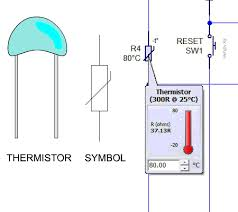 thermistors below is a more complicated circuit it is a programmable circuit called a pic microcontroller the thermistor is the input when the temperature drops
