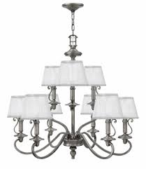 hinkley polished antique nickel plymouth two tier foyer